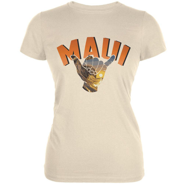 Maui Cream Juniors Soft T-Shirt