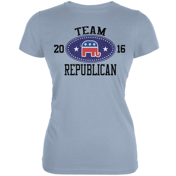 Election Team Republican 2016 Light Blue Juniors Soft T-Shirt