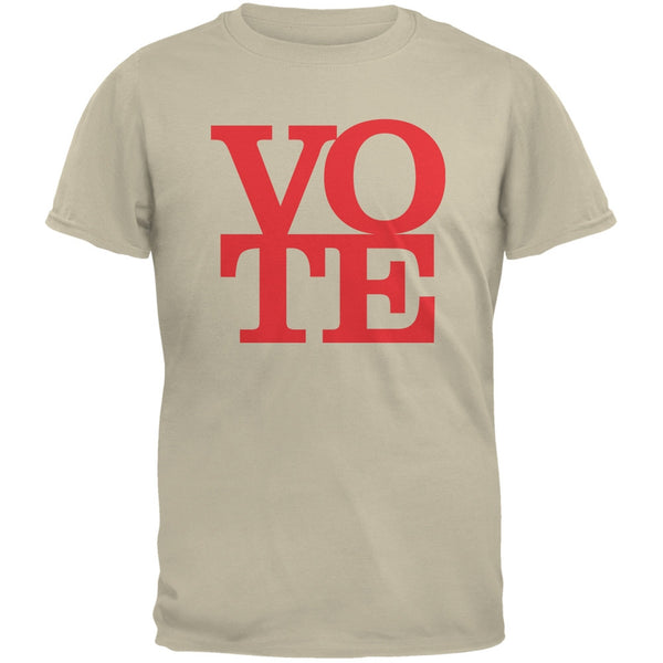 Election Vote Stacked Sand Adult T-Shirt