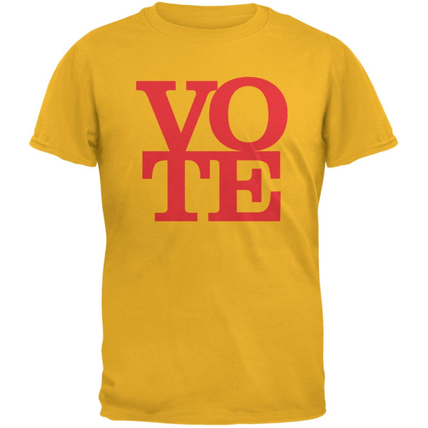 Election Vote Stacked Yellow Adult T-Shirt