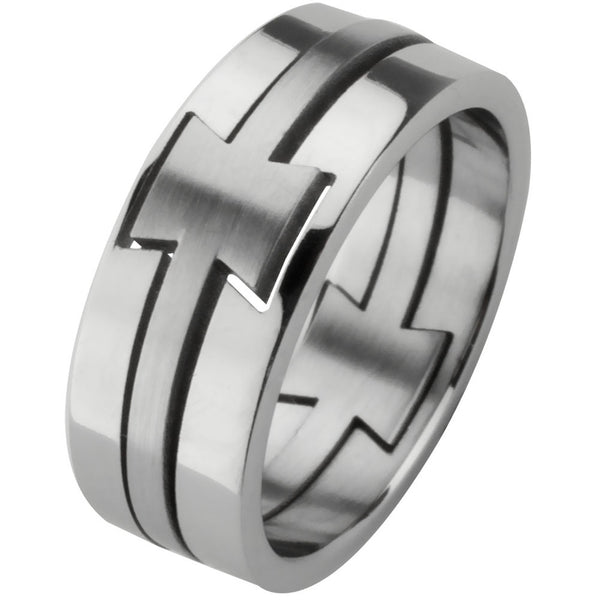 3-Piece Puzzle Silver Ring