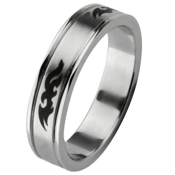 Small Tribal Pent Ring Band