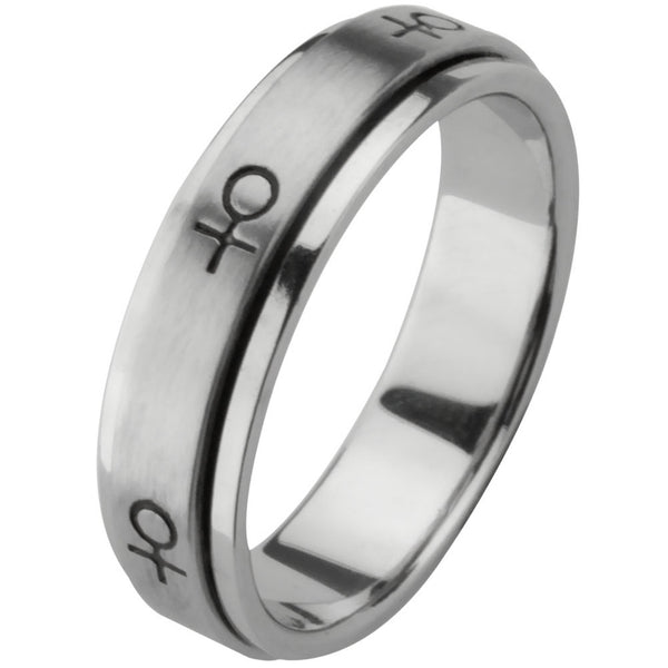 Female Symbol Spinner Ring