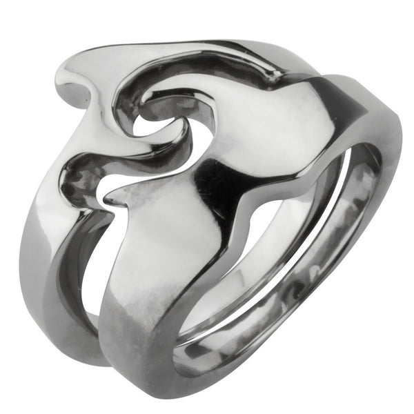 2-Piece Wave Puzzle Ring