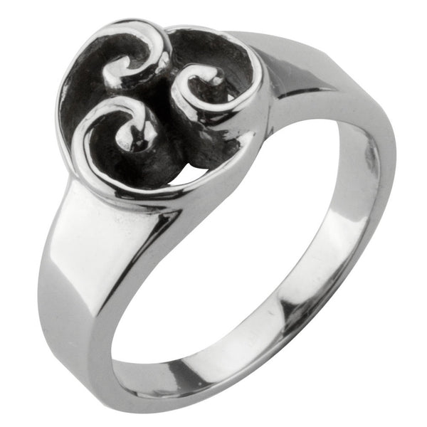 Three Swirls Ring