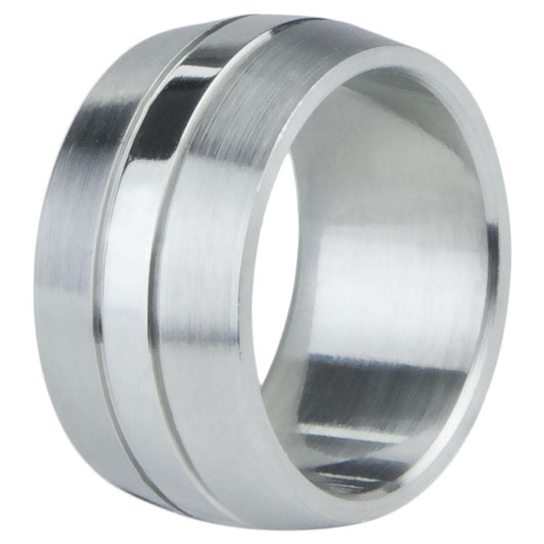Buffed Stainless Steel Ring Band