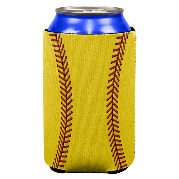 Softball All Over Can Cooler