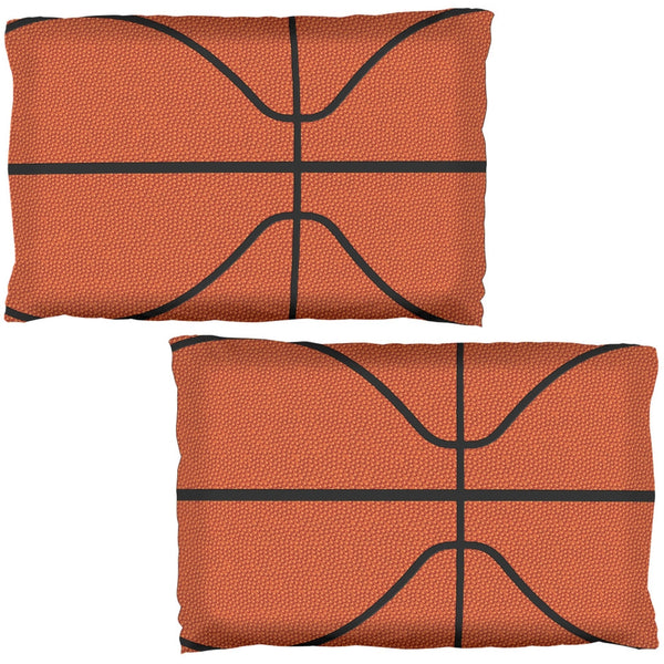 Basketball All Over Pillow Case Set