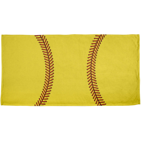 Softball All Over Beach Towel
