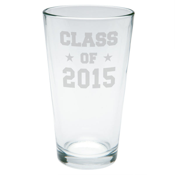 Graduation - Class of 2015 Stars Etched Pint Glass