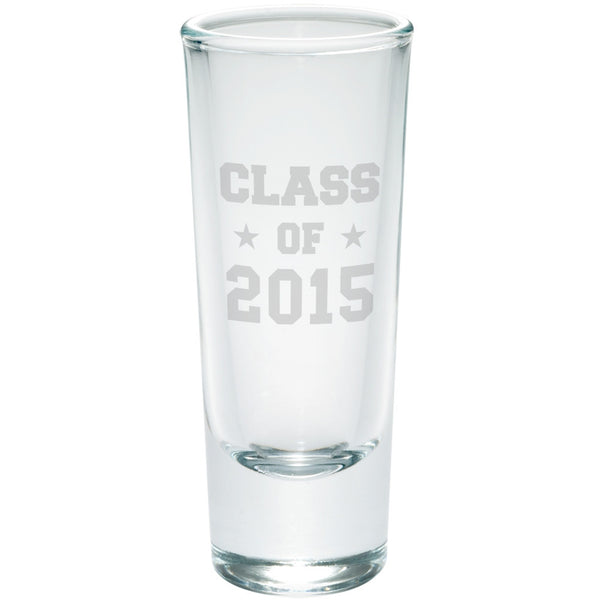 Graduation - Class of 2015 Stars Etched Shot Glass Shooter