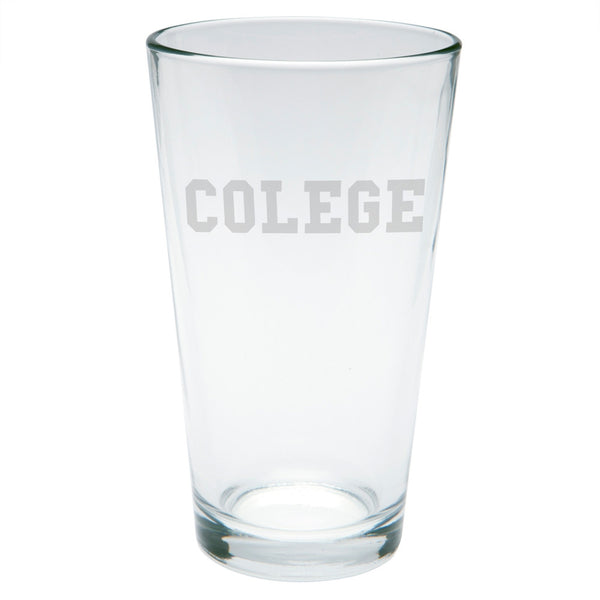 Colege Etched Pint Glass