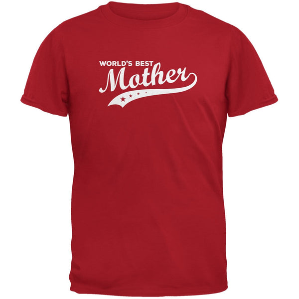 Mother's Day - World's Best Mother Red Adult T-Shirt