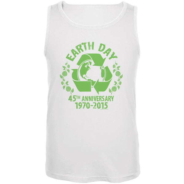 Earth Day - 45th Anniversary White Adult Tank Top
