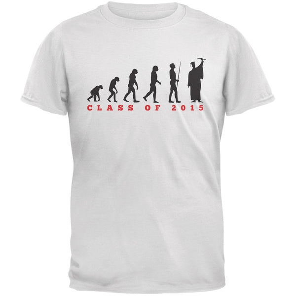 Graduation - Evolution White Adult T-Shirt
