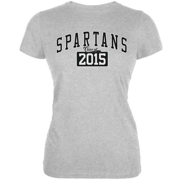 Graduation - Spartans Class of 2015 Heather Grey Juniors Soft T-Shirt