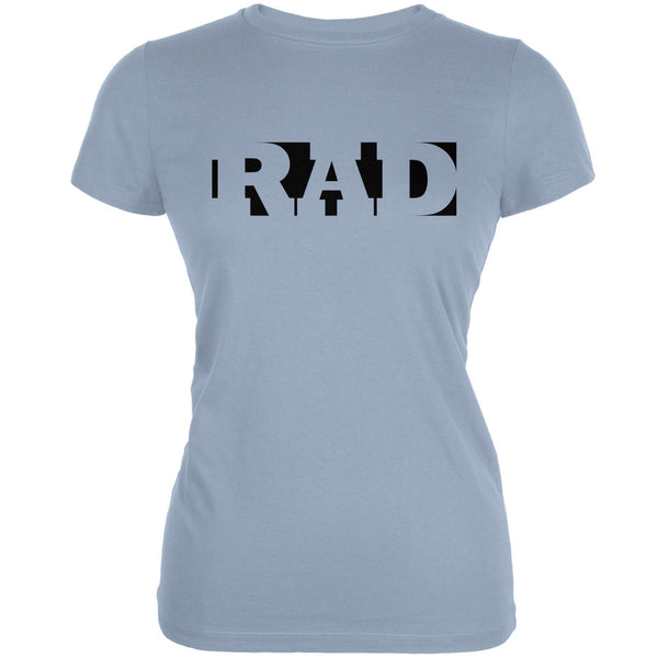 RAD Light Blue Juniors Soft T-Shirt