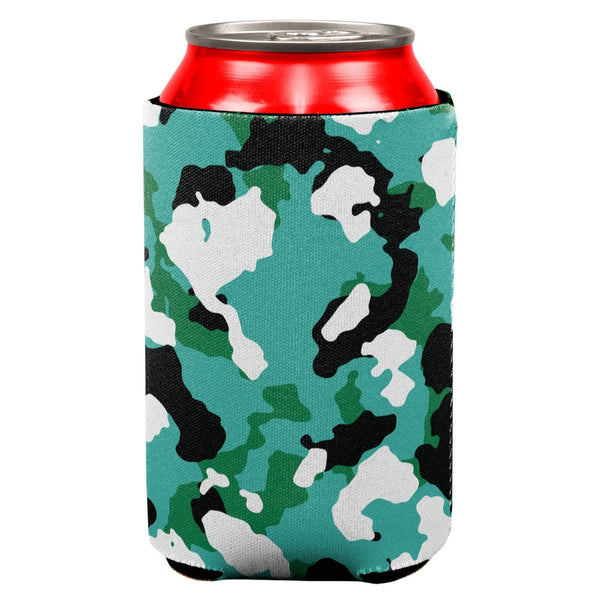 Turquoise Camo Can Cooler