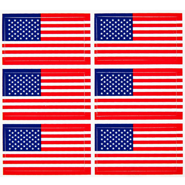 American Flag 6 Pack Stickers