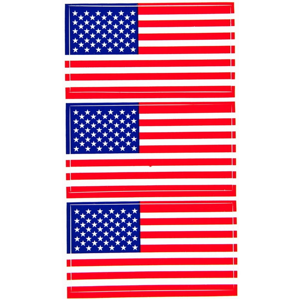 American Flag 3 Pack Stickers