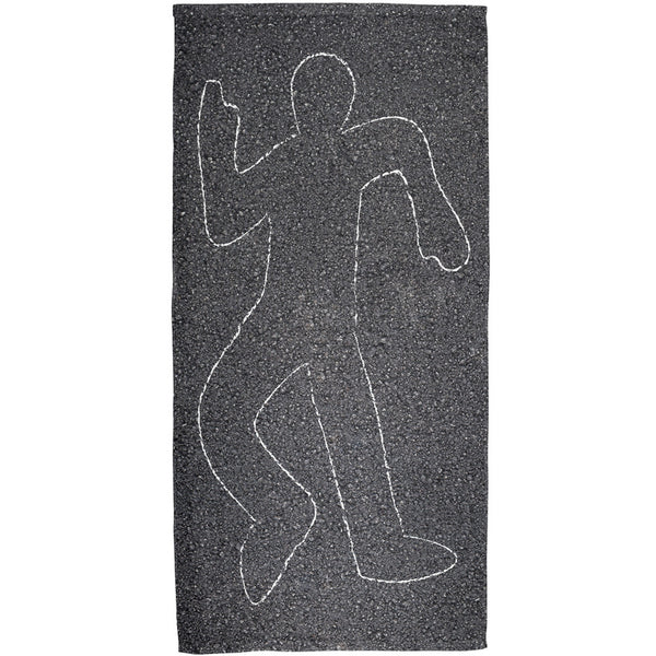 Crime Scene Chalk Outline Body All Over Bath Towel