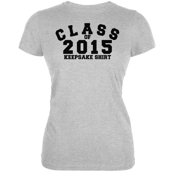 Graduation - Class Keepsake 2015 Heather Grey Juniors Soft T-Shirt