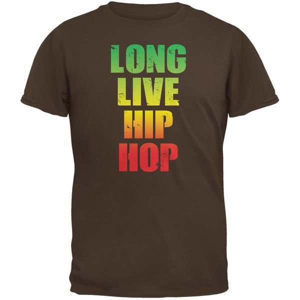 Long Live Hip Hop Brown Adult T-Shirt