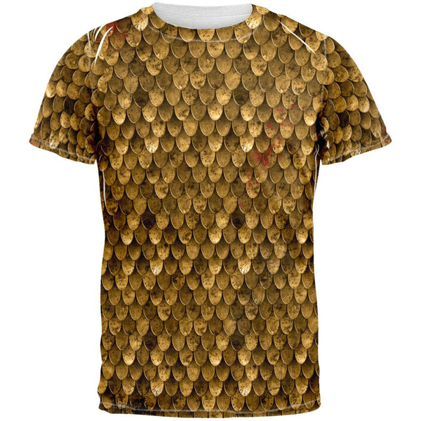 Bronze Scale Armor Costume All Over Adult T-Shirt