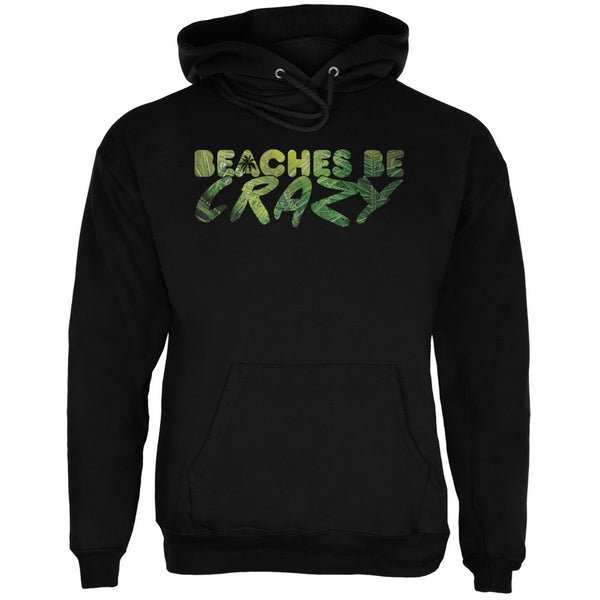 Beaches Be Crazy Black Adult Hoodie