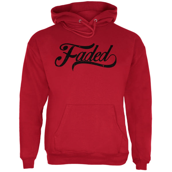Faded Red Adult Hoodie
