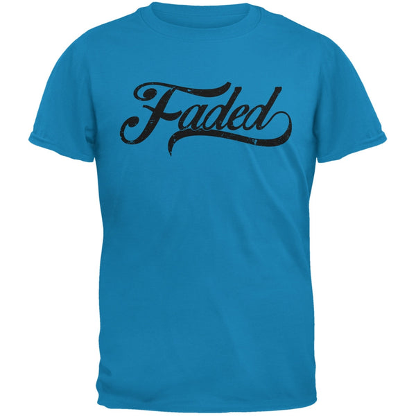 Faded Sapphire Blue Adult T-Shirt