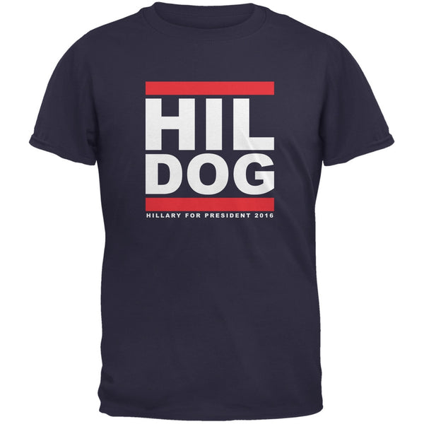 Election 2016 - Hil Dog Navy Adult T-Shirt