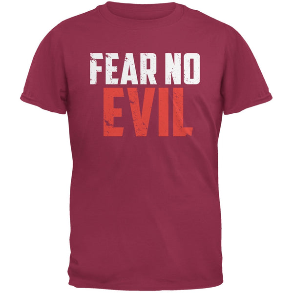 Fear No Evil Cardinal Red Adult T-Shirt