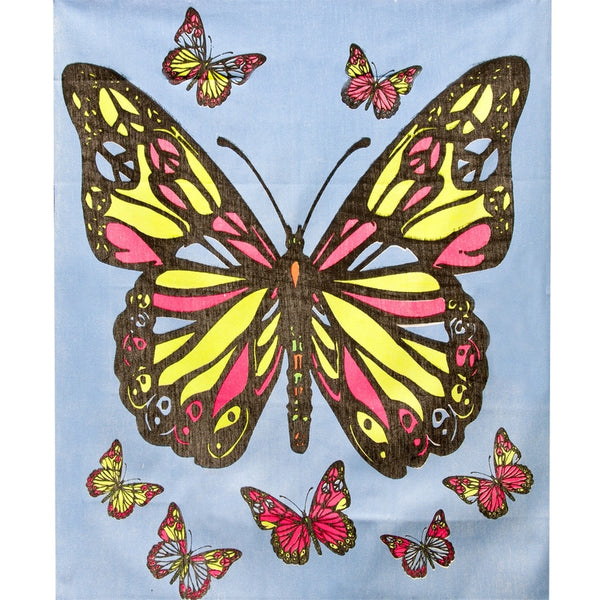 Peace Butterfly - Blacklight Tapestry