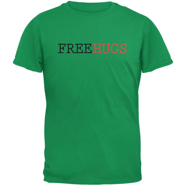 Free Hugs Irish Green Adult T-Shirt
