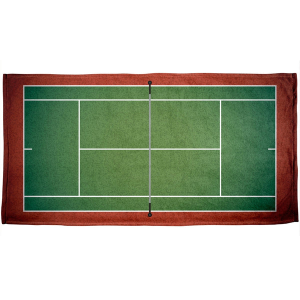 Tennis Court All Over Beach Towel