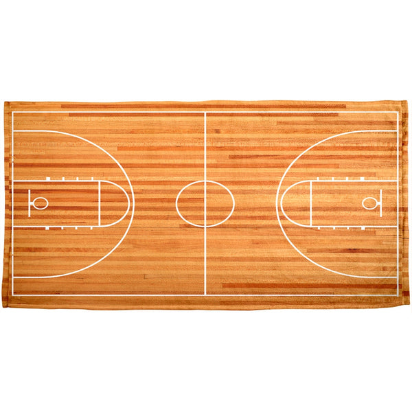Basketball Court All Over Plush Towel