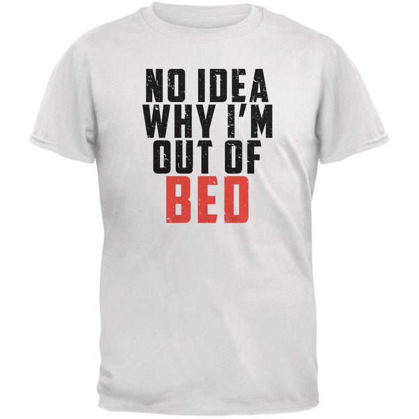 Out Of Bed White Adult T-Shirt