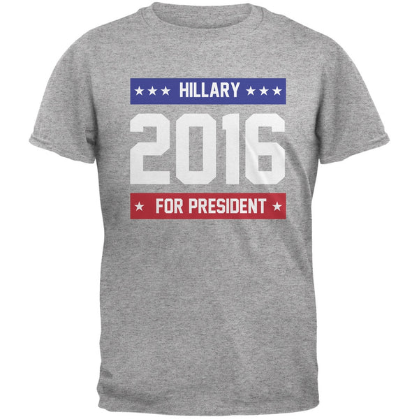 Election - Hillary for President 2016 Heather Grey Adult T-Shirt