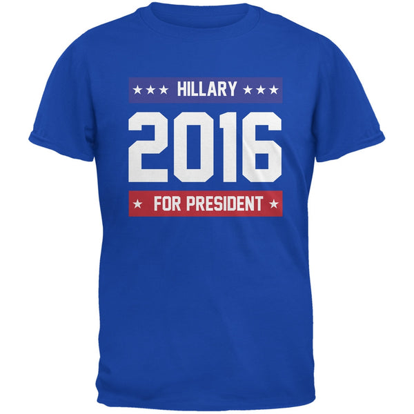 Election - Hillary for President 2016 Royal Adult T-Shirt