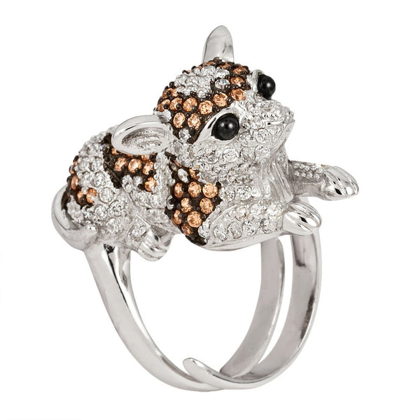 zirconia-studded-poodle-sterling-silver-adjustable-ring