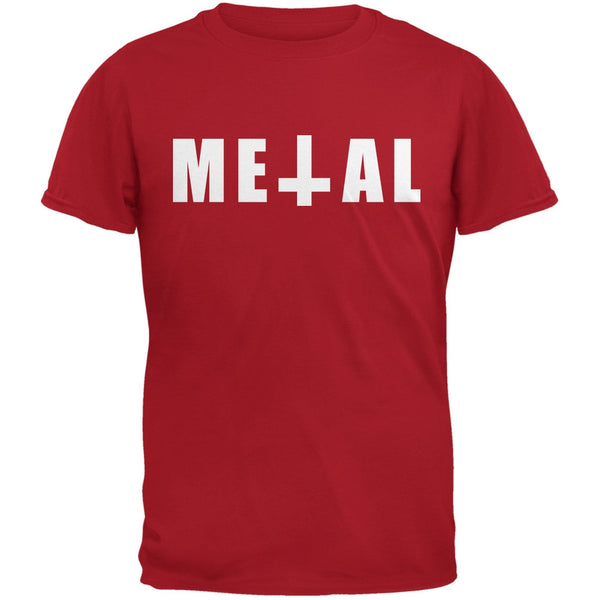 Metal Red Adult T-Shirt