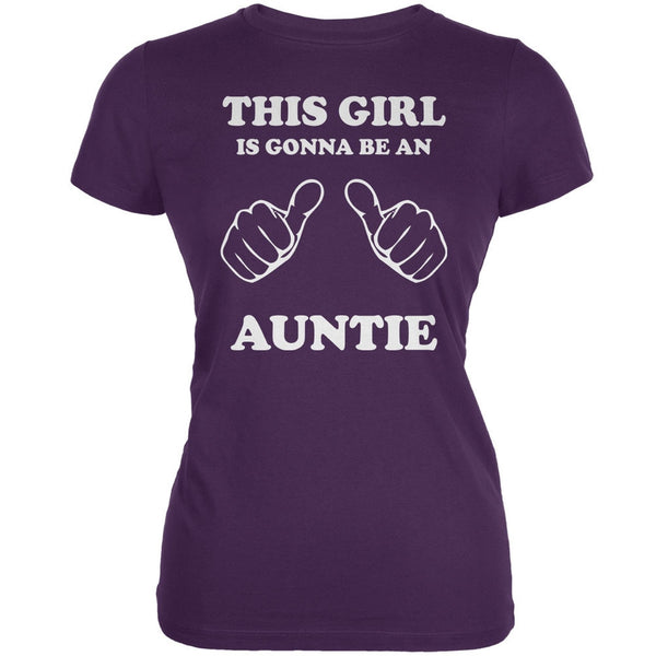 This Girl Gonna Be Auntie Purple Juniors Soft T-Shirt