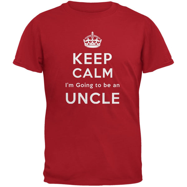 Keep Calm Going to be Uncle Red Adult T-Shirt