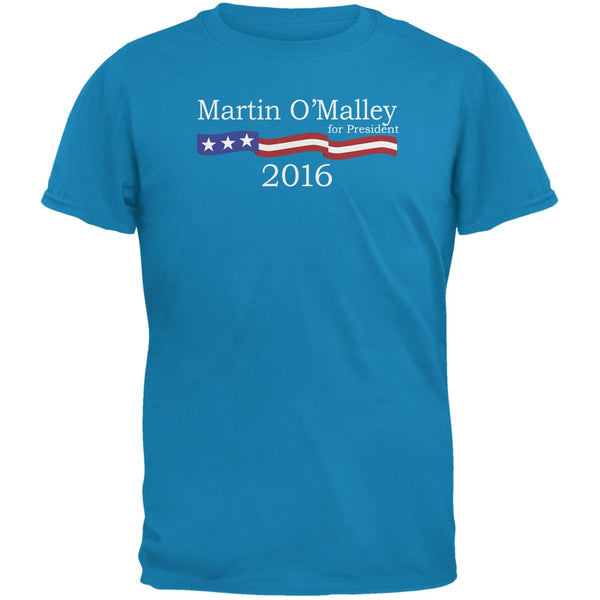 Election 2016 Martin O'Malley Logo Sapphire Blue Adult T-Shirt