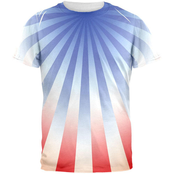 4th of July Patriot Starburst All Over Adult T-Shirt