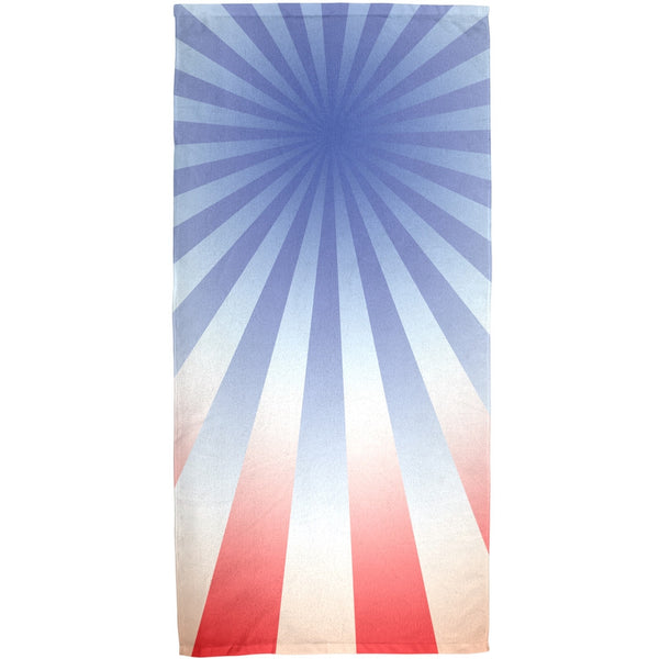4th of July Patriot Starburst All Over Bath Towel