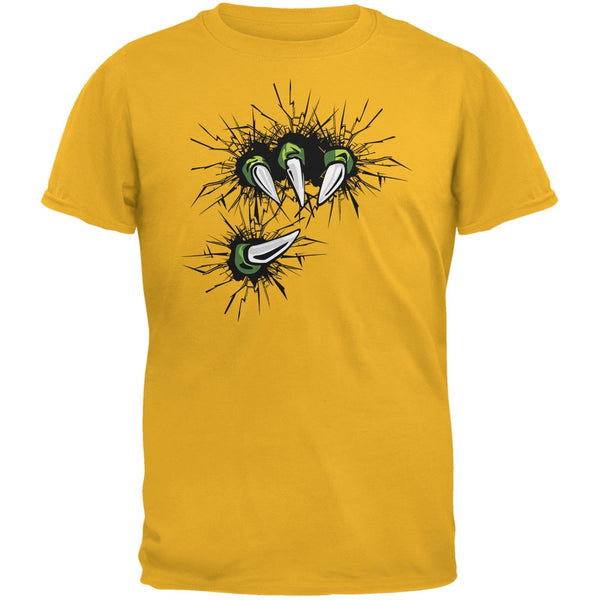Dinosaur Claw Gold Adult T-Shirt