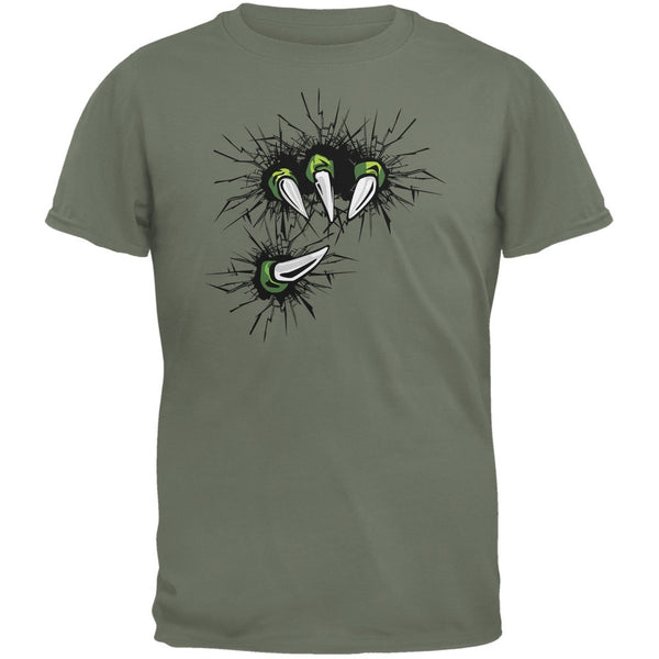 Dinosaur Claw Military Green Youth T-Shirt