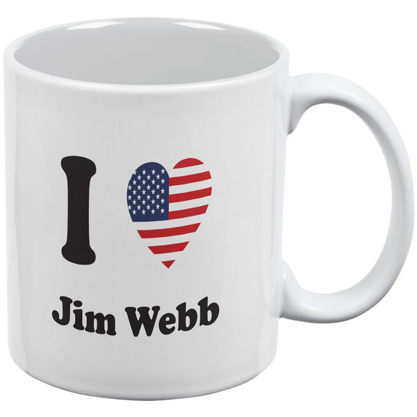 Election 2016 - I Heart Jim Webb White All Over Coffee Mug